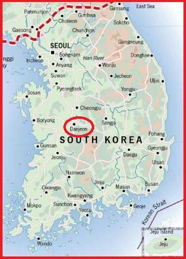 Daejeon Map1